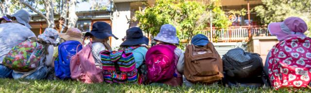 Bush walks are an integral part of the early years curriculum