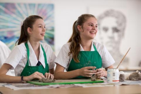 Senior Students in Art Studio