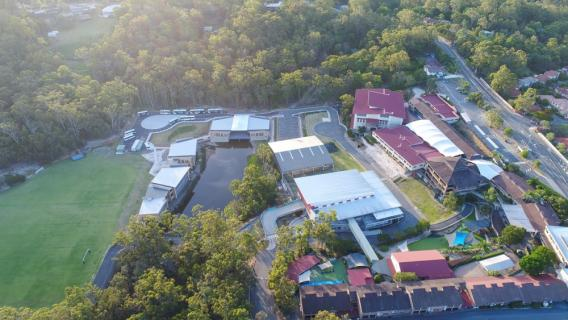 Aerial of Hillcrest Christian College Campus