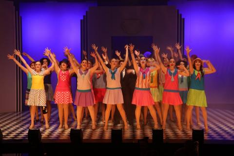 Performing Arts Students in College Musical