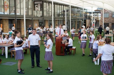 Senior Learning Community Courtyard