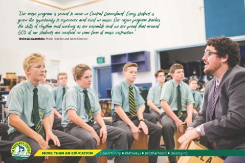 Music is a key element to Education and Co-curricular at St Brendan's