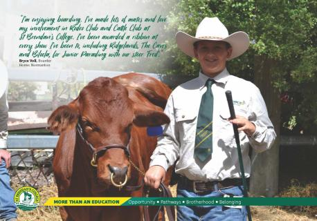 St Brendan's Agriculture program includes co-curricular activities of cattle club and rodeo club