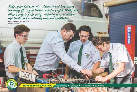 With a state of the art Trade Training Centre St Brendan's offers onsite VET certificates