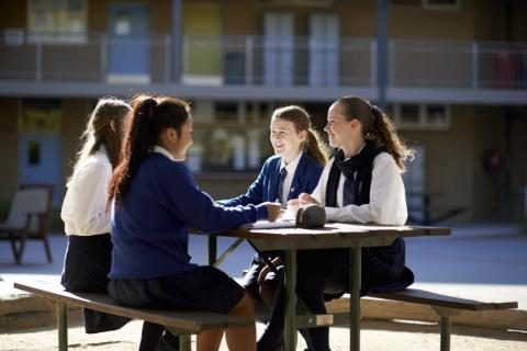 Melbourne Christian School Students Studying