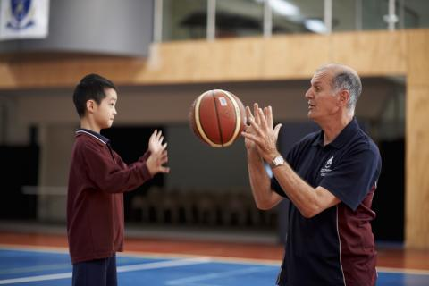 East Melbourne Primary School Student and PE Teacher