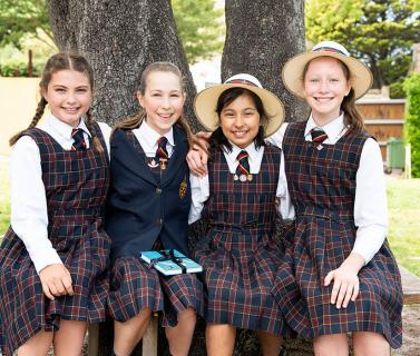 Students at Speech Day at St Catherine's School in Sydney