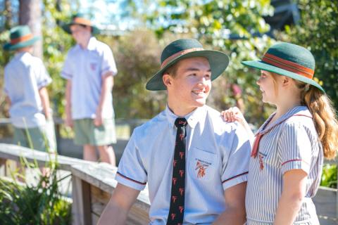 Our vertical pastoral care system encourages strong friendships with students in different year levels