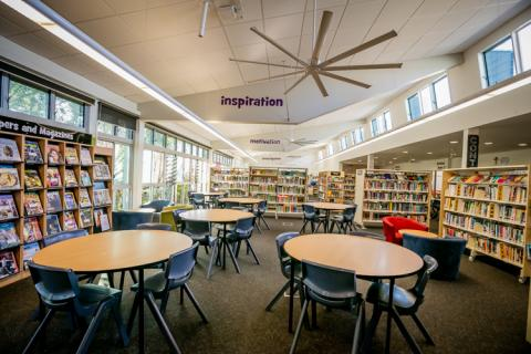 Our library is a very busy centre that often houses 4 or 5 classes at a time