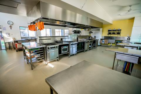 The senior hospitality centre is usually abuzz with students cooking