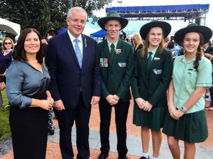 Our college captains Meeting Scott Morrison - ANZAC