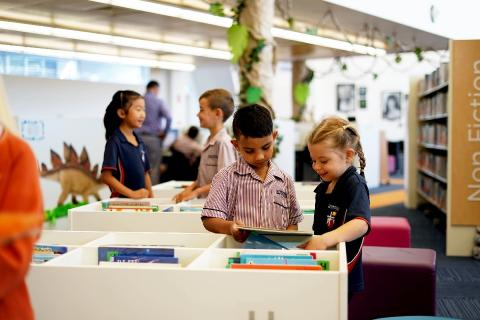 Students engage with reading at Literacy Central