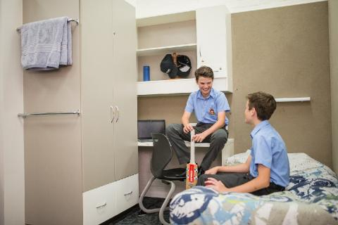 Year 10 Boy Boarders catch up in the Dorm