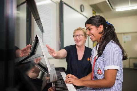 Private music tuition is available to all students
