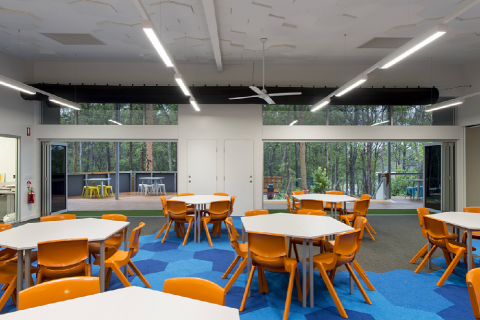 Large spacious indoor/outdoor classrooms