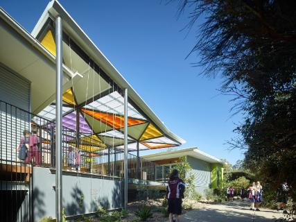Primary building, built to complement the natural environment