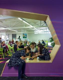 Functional learning areas are built into the building