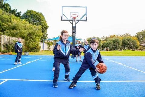 Refurbished basketball courts