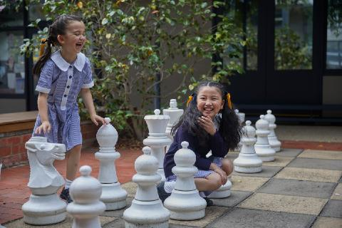 Chess outdoors at Fintona Junior School