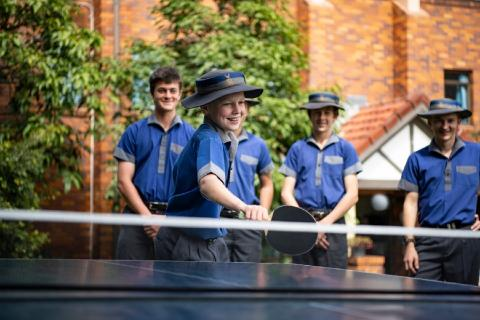 Table tennis is one of the many recreation activities available for boarding students