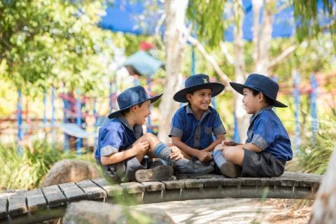 Preparatory School students in playground