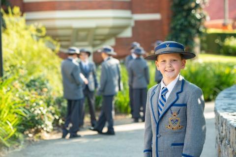 Senior School student in formal uniform