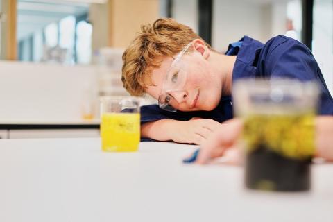 Students Observing his Experiment