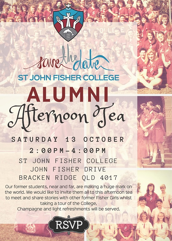 Alumni Afternoon Tea INVITE
